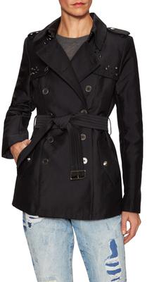 Cotton Studded Gun Lap Trench Coat