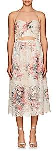 Zimmermann Women's Iris Floral Cotton Cutout Midi-Dress