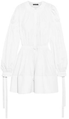 Alexander McQueen Gathered Cotton-Poplin Mini Dress