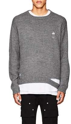 Stampd Men's Shaun Distressed Alpaca-Blend Sweater