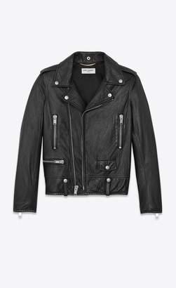Saint Laurent Motorcycle Jacket In Black Slouchy Leather