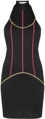 Kirin contrast-piping mini dress