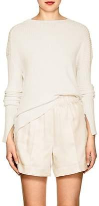 Helmut Lang Women's Rib-Knit Paper-Blend Asymmetric Sweater