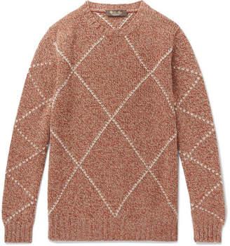 Loro Piana Baby Cashmere-jacquard Sweater - Orange