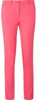 Michael Kors Samantha Wool-blend Crepe Skinny Pants - Bubblegum