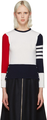 Thom Browne Tricolor Cashmere Sweater $1,690 thestylecure.com
