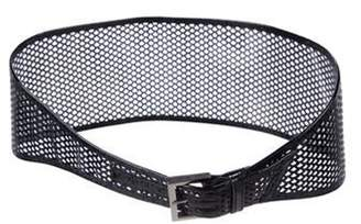 Fendi Perforated Wide Belt Black Perforated Wide Belt
