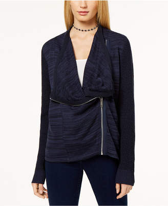 INC International Concepts I.n.c. Mixed-Knit Zip-Front Cardigan, Created for Macy's