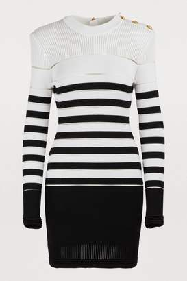 Balmain Striped mini dress