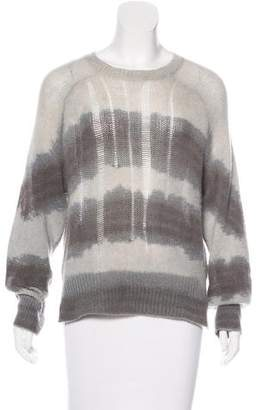 Raquel Allegra Striped Cashmere Knit Sweater
