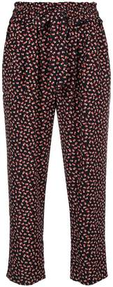 Parker Chinti & mini heart print cropped trousers