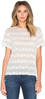 Marc by Marc Jacobs Lemon Pindot Voile Top $298 thestylecure.com