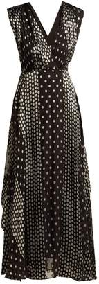 Diane von Furstenberg Polka-dot silk-satin dress