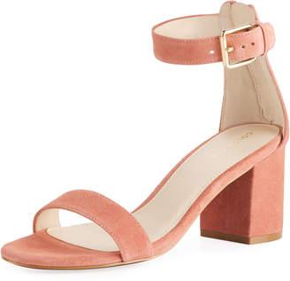 Cole Haan Clarette II Suede Block-Heel City Sandal