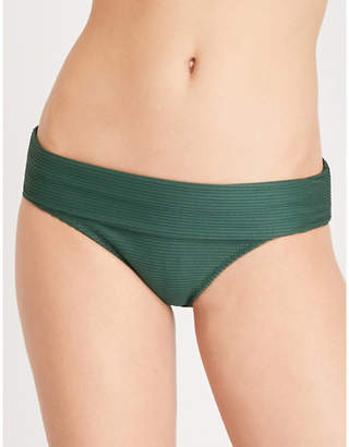 Heidi Klein Green Polynesia Fold-Over Bikini Bottoms