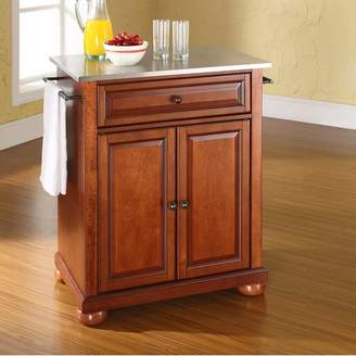 Co Darby Home Pottstown Kitchen Cart with Stainless Steel Top Base