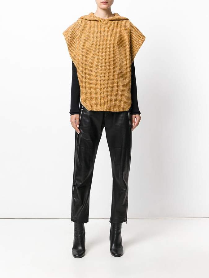 See by Chloe hooded poncho sweater