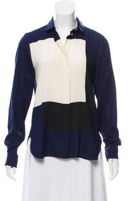 Celine Silk Colorblock Top