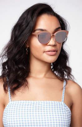 La Hearts Rose Gold Catmaster Cat-Eye Sunglasses