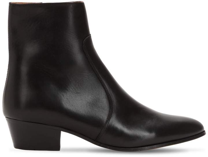 55mm Zimmerman Zip Leather Boots