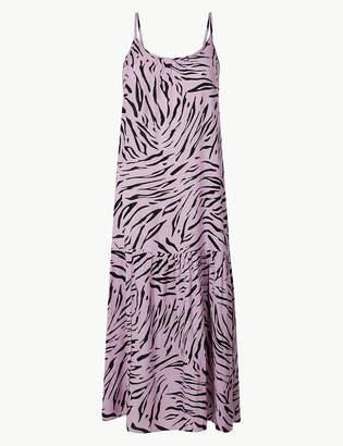 Marks and Spencer Animal Print Slip Midi Dress