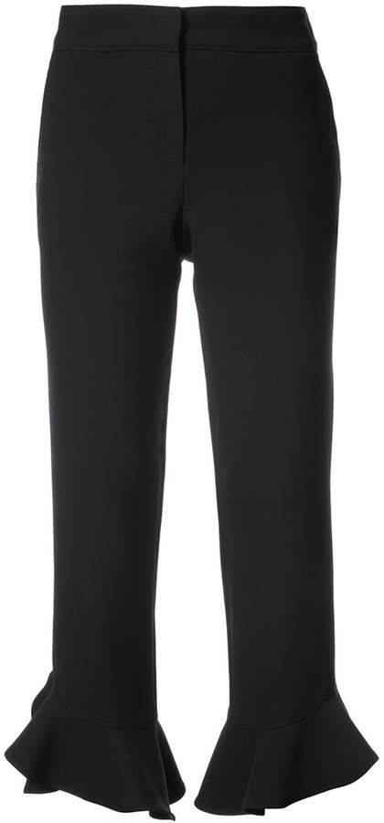 Trina Turk cropped frill trousers