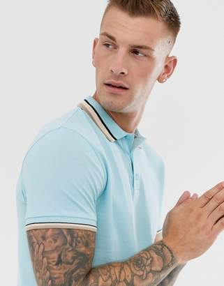 Asos Design DESIGN polo shirt in pique with contrast tipping