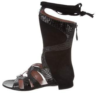 Alaia Snakeskin Gladiator Sandals w/ Tags
