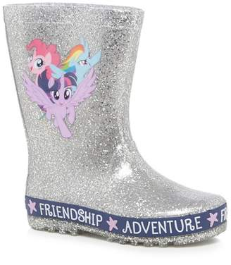 Character My Little Pony - Girls' Silver 'My Little Pony' Wellies