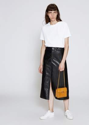 Nomia High Waist Faux Leather Skirt