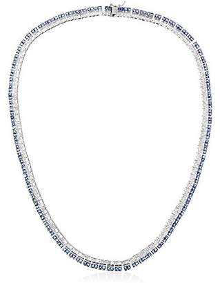 Kenneth Jay Lane CZ by Womens Blue Clear Baguette Tennis Necklace