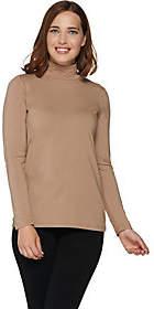 Nobrand NO BRAND Bob Mackie's Long Sleeve Mock Neck Knit Top