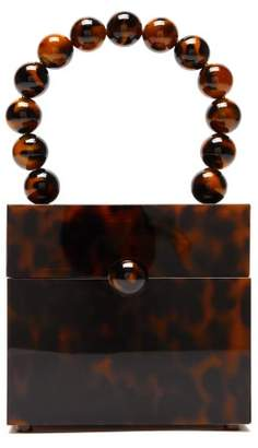 Cult Gaia Eos Tortoiseshell Effect Beaded Box Bag - Womens - Tortoiseshell