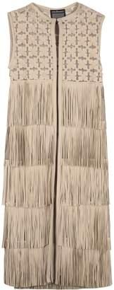 Caban Romantic Leather Long Vest