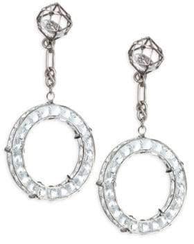 Dannijo Vladd Crystal Chain Drop Earrings