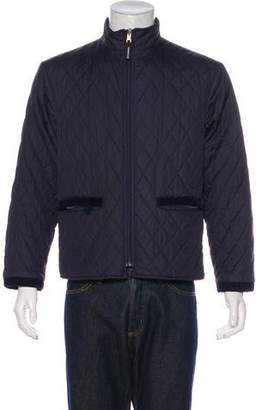 Aquascutum London Quilted Zip-Up Jacket