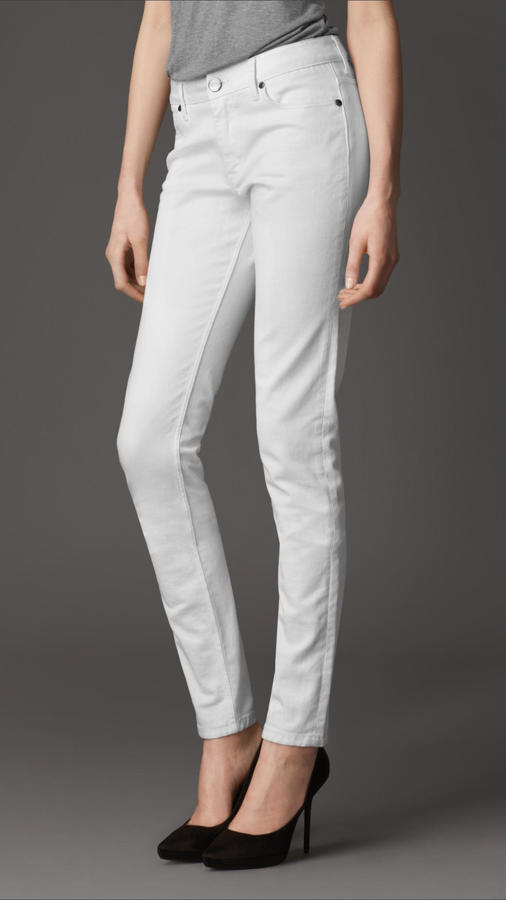 Burberry Milbourne White Skinny Fit Jeans