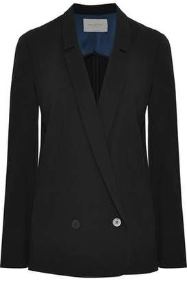 Halston Double-Breasted Twill Blazer