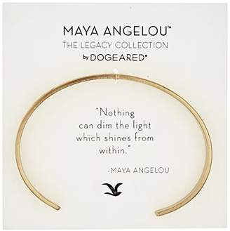 Dogeared Maya Angelou Nothing Can Dim The Light Thin Engraved Cuff Bracelet