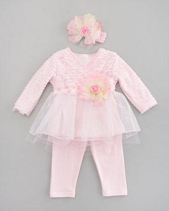 cachcach Tiny Trousseau Little Bow Peep Dress, 12-24 Months