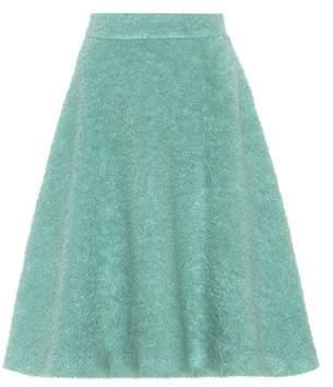 Miu Miu Mohair and wool-blend skirt