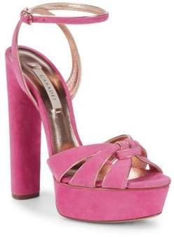 Casadei Camoscio Suede Ankle Strap Sandals