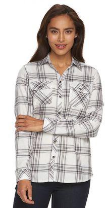 Women's Croft & Barrow® Plaid Flannel Shirt $36 thestylecure.com