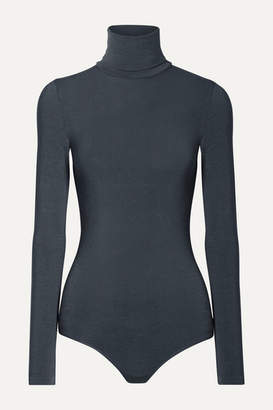 Wolford Colorado Stretch-jersey Turtleneck Thong Bodysuit - Dark gray