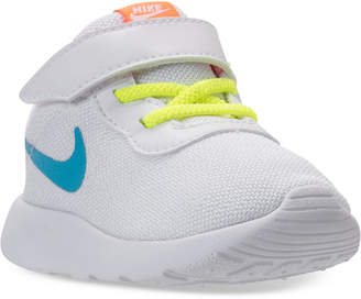 Nike Toddler Girls' Tanjun stay-put closure Casual Sneakers from Finish Line $44.99 thestylecure.com