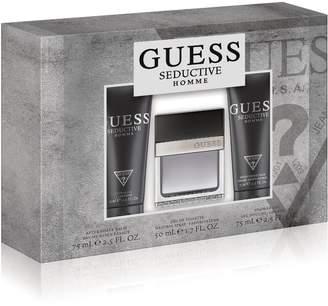 GUESS Fragrance Homme 3 Piece Gift Set (1.7 Ounce Eau De Toilette Plus 2.5 Ounce Aftershave Balm Plus 2.5 Ounce Shower Gel) by Fragrance