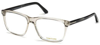 Tom Ford Square Acetate Optical Glasses, Gray