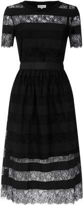 Claudie Pierlot Lace Insert Midi Dress