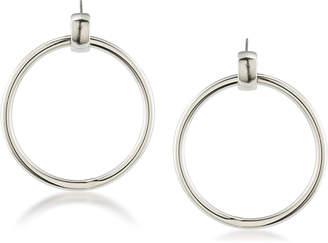 Trina Turk Door Knocker Link Earrings, Silvertone