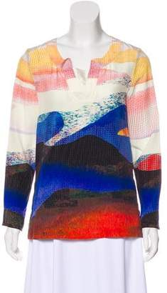 Diane von Furstenberg Silk Patterned Blouse